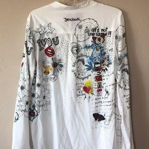 Desigual Tops - Desigual graphic blouse